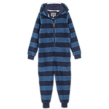 Buy Fat Face Children's Monster Fleece Onesie, Navy Online at johnlewis.com