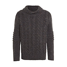 Buy John Lewis Boys' Shawl Neck Jumper, Grey Online at johnlewis.com