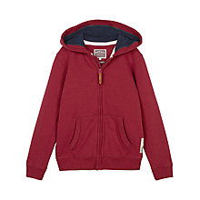 Buy Fat Face Boys' Dinosaur Graphic Zip Through Hoodie, Rust Red Online at johnlewis.com