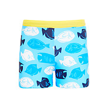 Buy John Lewis Boys' Fish Swimming Trunks, Blue Online at johnlewis.com