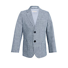 Buy John Lewis Heirloom Collection Boys' Puppytooth Patch Pocket Blazer, Navy Online at johnlewis.com