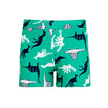 Buy John Lewis Boys' Dinosaur Swimming Trunks, Green Online at johnlewis.com