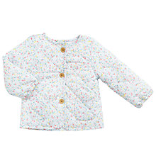Buy John Lewis Baby Ditsy Floral Wadded Jacket, Multi Online at johnlewis.com