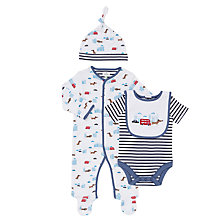 Buy John Lewis Baby Dog and City Print 4 Piece Set, Blue/White Online at johnlewis.com