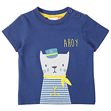 Buy John Lewis Baby Captain Cat T-Shirt, Blue Online at johnlewis.com