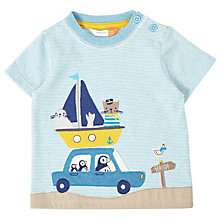Buy John Lewis Baby Puffin Seaside Road Trip T-Shirt, Blue/White Online at johnlewis.com