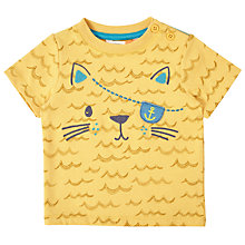Buy John Lewis Baby Pirate Cat T-Shirt, Yellow Online at johnlewis.com