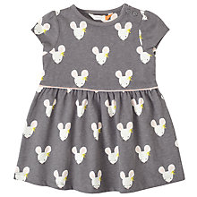 Buy John Lewis Baby Mouse Print Dress, Grey Online at johnlewis.com