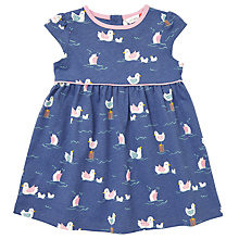 Buy John Lewis Baby Bird Print Dress, Navy Online at johnlewis.com
