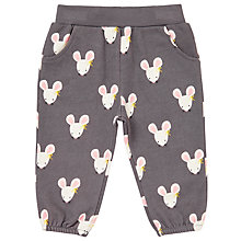 Buy John Lewis Baby Mouse Jersey Trousers, Grey Online at johnlewis.com