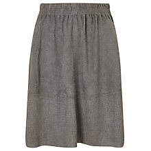 Buy Minimum Shirley Faux Suede Skirt, Grey Online at johnlewis.com