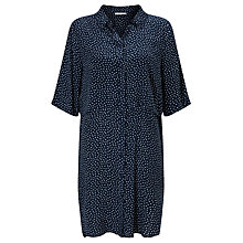Buy Minimum Nelle Printed Shirt Dress, Galaxy Blue Online at johnlewis.com