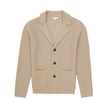 Buy Reiss Iceland Ribbed Cardigan, Oatmeal Online at johnlewis.com