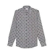 Buy Reiss Merci Geometric Print Slim Fit Shirt, Navy Online at johnlewis.com