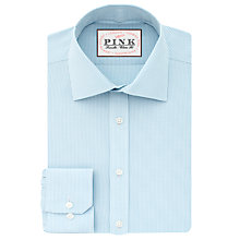 Buy Thomas Pink Ferguson Check Classic Fit Shirt, White/Sky Online at johnlewis.com