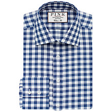 Buy Thomas Pink Plato Check Classic Fit XL Sleeve Shirt, White/Navy Online at johnlewis.com