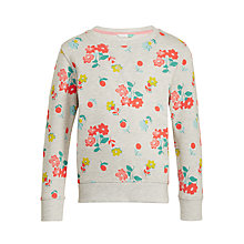 Buy John Lewis Girls' Floral Sweatshirt, Oatmeal Online at johnlewis.com