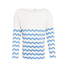 Buy John Lewis Girls' Chevron Stripe Top Online at johnlewis.com