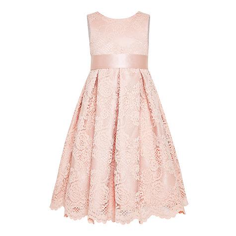 Buy john lewis girls 39 corded lace bridesmaid dress pink for John lewis wedding dresses