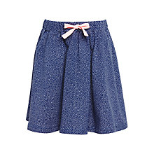 Buy John Lewis Girls' Jersey Spot Skirt, Insignia Blue Online at johnlewis.com