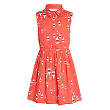 Buy John Lewis Girls' Boat Print Dress, Cayenne Online at johnlewis.com