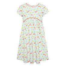 Buy John Lewis Girls' Ditsy Floral Dress, White/Multi Online at johnlewis.com