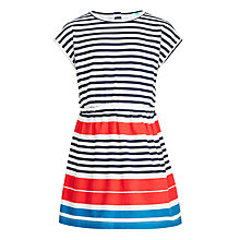 Buy John Lewis Girls' Engineered Stripe Dress, Multi Online at johnlewis.com
