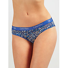 Buy Calvin Klein Underwear CK One Bikini Briefs, Hazy Animal Print Online at johnlewis.com