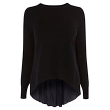 Buy Karen Millen Pleat Panel Jumper, Black Online at johnlewis.com