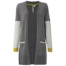 Buy White Stuff Elm Colour Block Cardigan, Charcoal Online at johnlewis.com