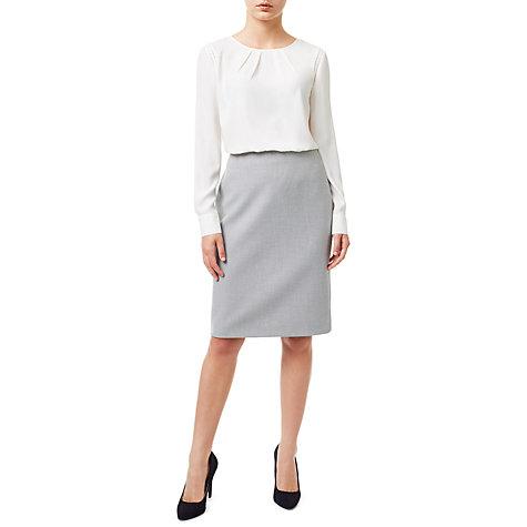 buy precis eliza tailored pencil skirt light grey