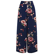Buy Warehouse Painted Floral Culottes, Multi Online at johnlewis.com