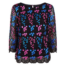 Buy Fenn Wright Manson Petite Miranda Top, Black Online at johnlewis.com