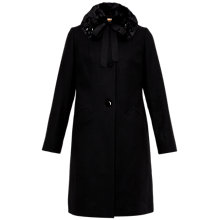 Buy Ted Baker Hayah Faux Fur Collar Coat, Black Online at johnlewis.com