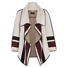 Buy Karen Millen Striped Cape Coat, Neutral Online at johnlewis.com
