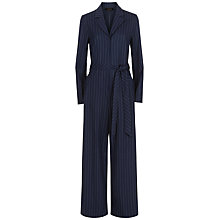 Buy Jaeger Wool Pinstripe Jumpsuit, Navy/Ivory Online at johnlewis.com