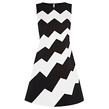 Buy Karen Millen Colourblock Dress, Black/Ivory Online at johnlewis.com