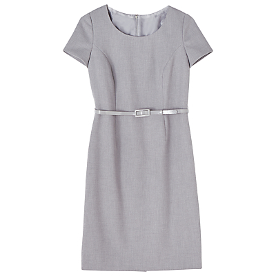 Precis Petite Eliza Tailored Dress, Light Grey