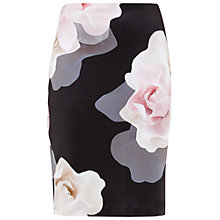Buy Ted Baker Kanara Porcelain Rose Skirt, Black Online at johnlewis.com