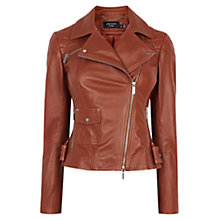 Buy Karen Millen Leather Biker Jacket Online at johnlewis.com