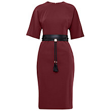 Buy Ted Baker Lemar Kimono Sleeve Dress, Oxblood Red Online at johnlewis.com