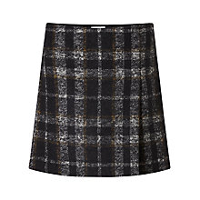 Buy Jigsaw Check Wrap Mini Skirt, Black Online at johnlewis.com