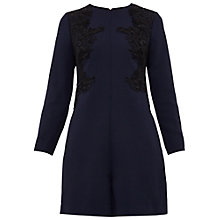 Buy Ted Baker Aysa Embroidered Playsuit, Navy Online at johnlewis.com