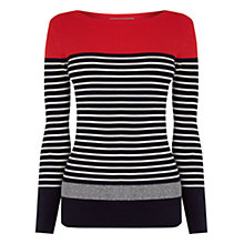 Buy Oasis Striped Colourblock Jumper, Multi Online at johnlewis.com