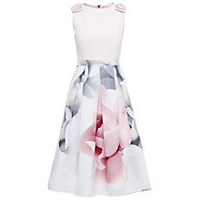 Buy Ted Baker Riina Porcelain Rose Bow Dress, Ecru Online at johnlewis.com