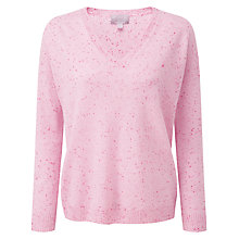 Buy Pure Collection Frances Fleck Relaxed Jumper, Pink Online at johnlewis.com