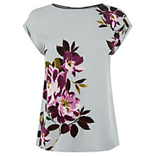 Buy Oasis Rose Print Pleated Back Top, Multi Online at johnlewis.com