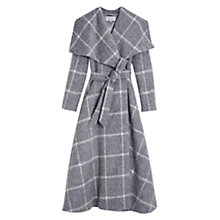 Buy Hobbs Rosemary Check Coat, Grey Online at johnlewis.com
