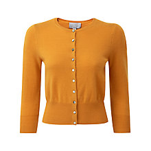 Buy Pure Collection Sawyer Cropped Cardigan, Marigold Online at johnlewis.com