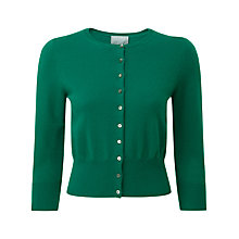 Buy Pure Collection Rihanna Cropped Cardigan, Juniper Online at johnlewis.com